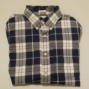 Abercrombie & Fitch Blue Grey White Cotton M Shirt